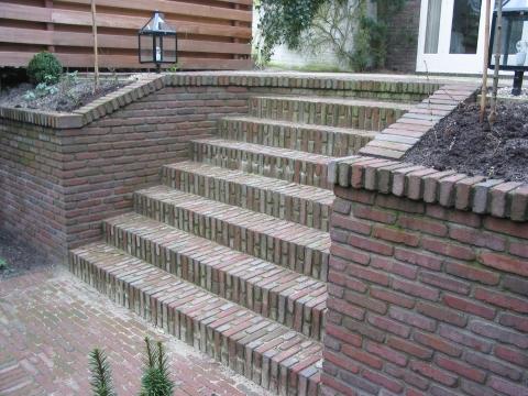Stenen Muur Voortuin : Muurtje metselen tuin interesting van een muur met trappartij
